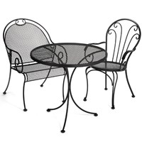 Black Wrought Iron Indoor Outdoor Furniture