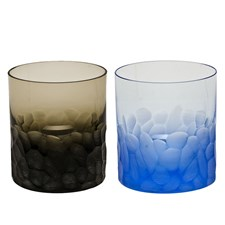 "Moser ""Pebbles"" Double Old Fashioned Glasses"