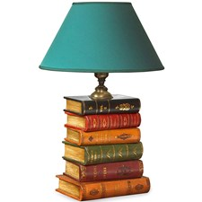 Leather Stacked Books Lamp