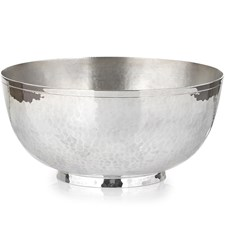 Silver Plated Hand Hammered Bowl