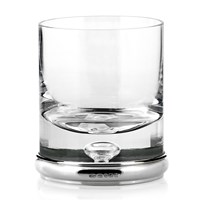 Sterling Hallmarked Silver & Crystal Double Old Fashioned