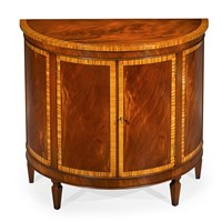 Mahogany and Satinwood Commode