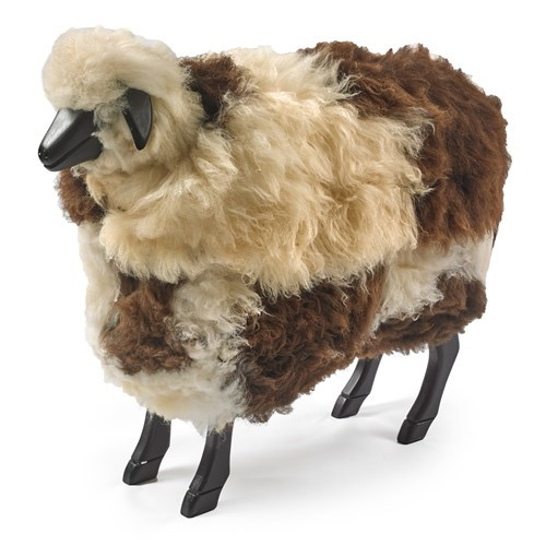 Sheep Footrest With Natural Fleece | Leather Footstools | Seating |  Furniture | ScullyandScully.com