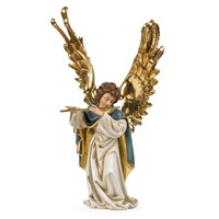 Wooden Angel with Flute