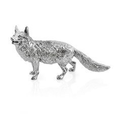 Small Sterling Silver Fox