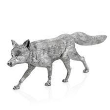 Large Sterling Silver Fox