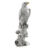Sterling Silver Eagle Perched on Log