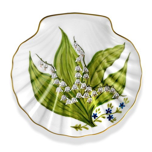 Lily of the Valley Scallop Shell