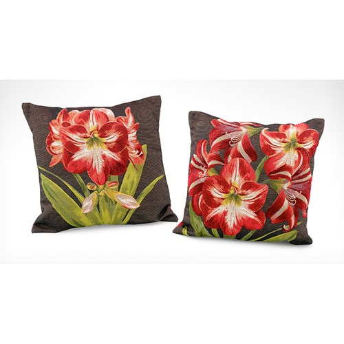 Double-Sided Amaryllis Pillows
