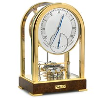 Meridian Coaxial Gold-Plated Clock