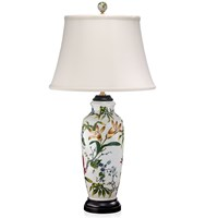 Lily & Wildflower Vase Lamp