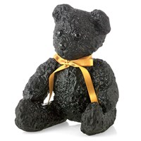 Daum 'Pate De Verre' Crystal Large Black Teddy Bear