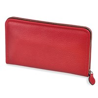 Calfskin Extra Flat Large Zippered Wallet (Assorted Colors)
