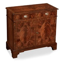 Mahogany and Rosewood Two-Door Side Cabinet