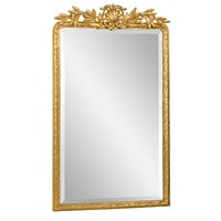 Antique Gold Laurel Crown Mirror with Bevel