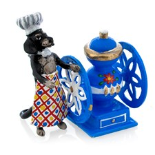 Austrian Bronze Dachshund with Coffee Mill