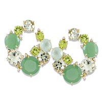 Green Wreath Earrings