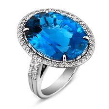 18k White Gold London Blue Topaz Ring