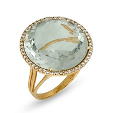 18k Yellow Gold Prasiolite Ring