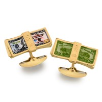 18k Gold Dollar Bill Cufflinks