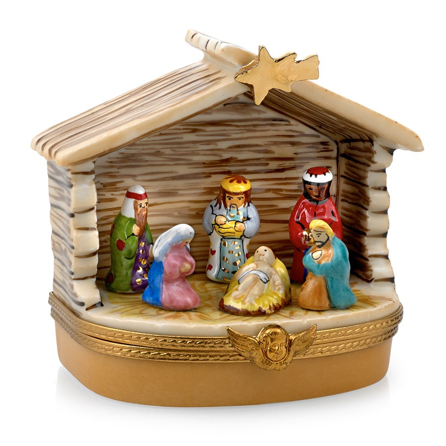 Nativity Stable Limoges Box Limoges Boxes Handpainted Porcelain Collectibles