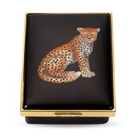Halcyon Days Leopard Enamel Box