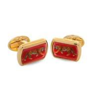 Halcyon Days Red Tiger Cufflinks