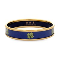 Halcyon Days Navy Clover Push on Bangle