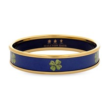 Halcyon Days Clover on Navy Bangles