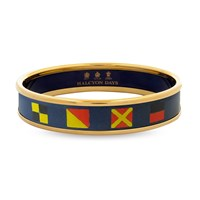 Halcyon Days Navy Nautical Push on Bangles