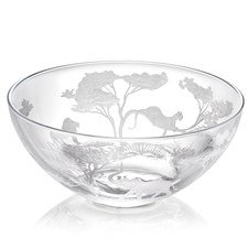 Queen Lace Crystal Big 5 African Safari Bowl
