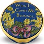 Halcyon Days When I Count My Blessings Enamel Box, Personalized