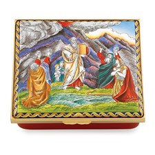 "Halcyon Days ""Ten Commandments"" Enamel Box"
