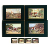Hunt Scene Coasters & Placemats, Green