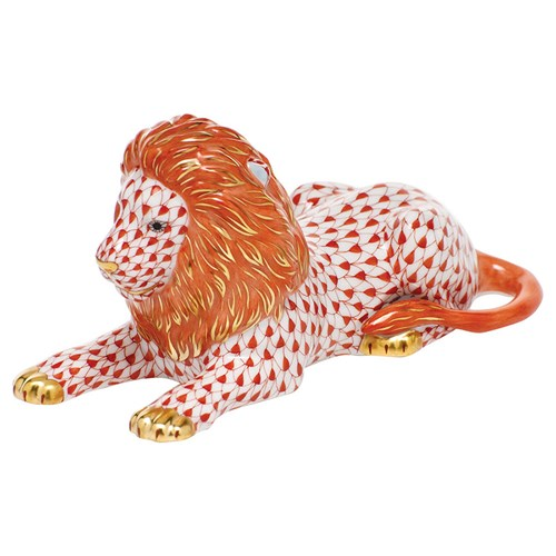 Herend Resting Lion