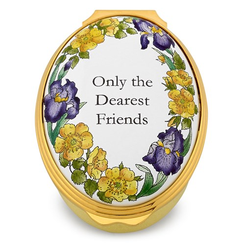 Halcyon Days Only The Dearest Friends Enamel Box