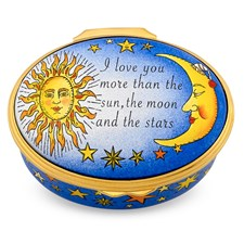 Halcyon Days I Love You More Than The Sun Enamel Box