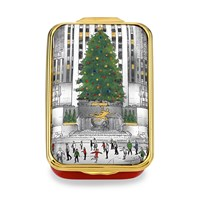 Halcyon Days Christmas in New York Enamel Box
