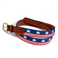 Old Glory Petitpoint Belt