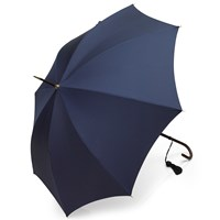 Slim Leather Handle Umbrella, French Navy
