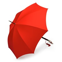 Nickel Horse Head Umbrella, Red