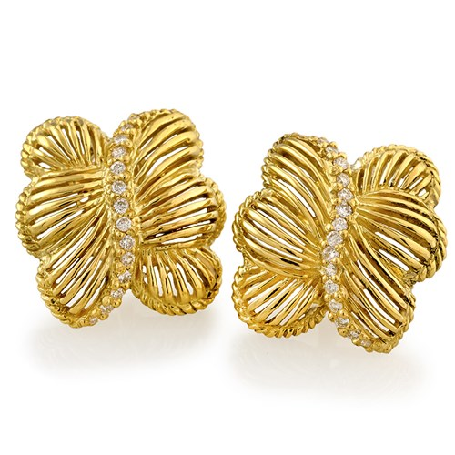 Free Form Open Line Butterfly Earrings