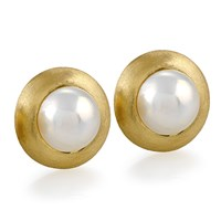 Mabe Pearl Shield Earrings