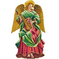 Trompe l'Oeil Renaissance Angel with Mandolin