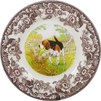 Woodland Hunting Dog Dinner Plates