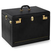 Italian Leather Jewel Box, Oregon Black