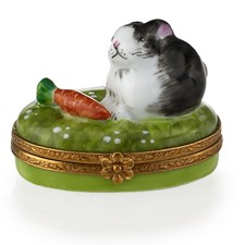Rabbit with Carrot Limoges Box