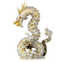 Herend Dragon, Gold, White & Black