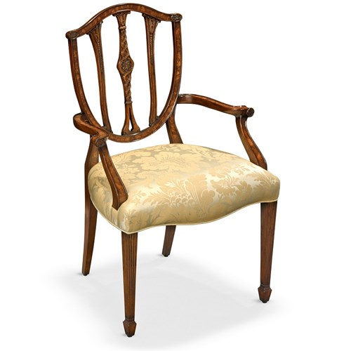 Carved Mahogany Armchair