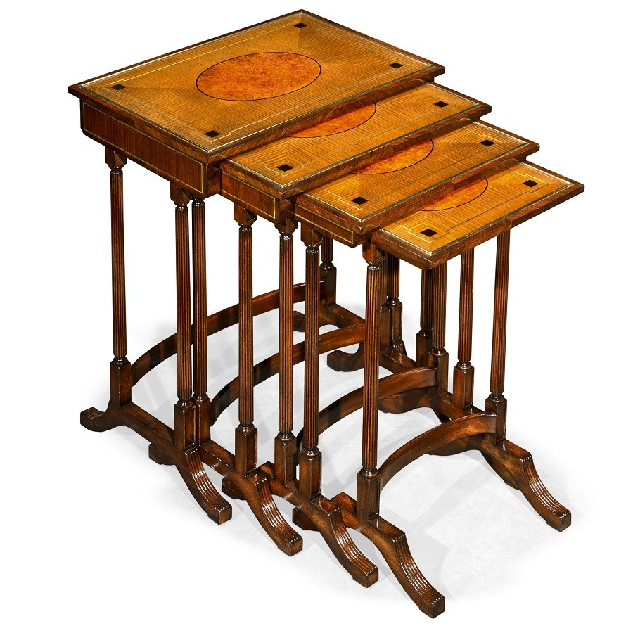 Nesting Tables inlaid mahogany nesting tables set of 4 | more tables | tables